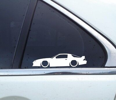 2X Lowered car stickers - for Chevrolet Camaro 1982-92 3rd gen (v2) high rise
