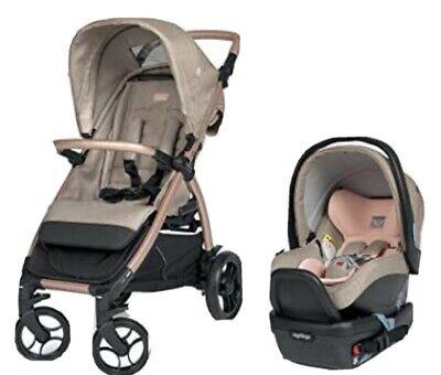 Peg Perego Booklet 50 Travel System Stroller Infant Car Seat Mon Amour/Rose Gold