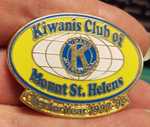 Kiwanis Pin - Kiwanis Club of Mount St. Helens Charter year 1997 - 98 Nice Pin!