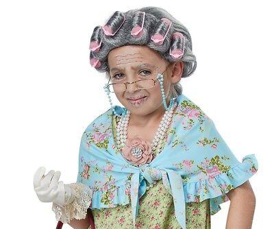 Old Lady Kit Grandma Child Costume Set](Old Lady Wig)