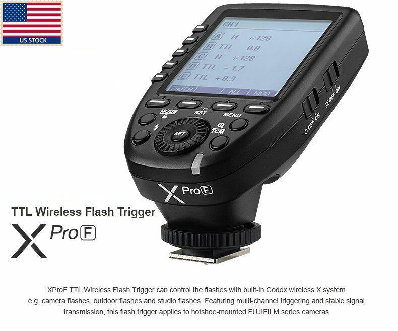 Godox Xpro-F 2.4G X System TTL LCD Wireless Trigger For Fuji Fujifilm Camera US