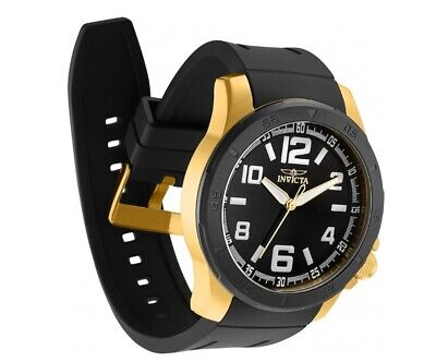 Invicta Mens Specialty 30704 Black/Gold Tone 48MM Case Swiss Movement Watch