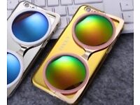 Cool 3D Cat Eye Mirror Phone Case CXXEL (Yellow Gold iPhone 6+/7+)
