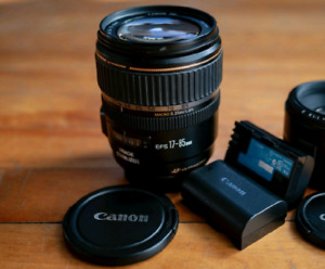 CANON LENS AND BATTERIES! $325