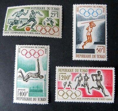 Olympische Sommerspiele 1964, Mi.Nr. 120/23 postfrisch.