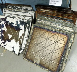 Antique Tin Ceiling Tiles - BLUE JAR Antique Mall