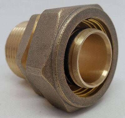 Pex-al-pex Compression Fitting 1 Mpt Male Pipe Thread Quantity 2