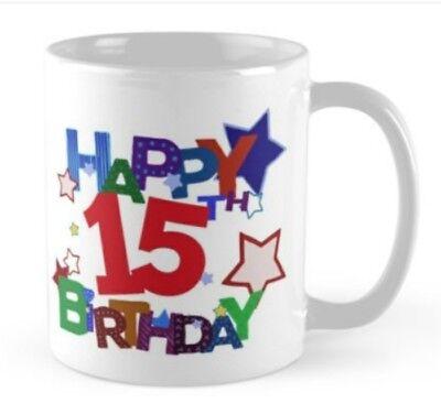 Boy Birthday Ideas (15 years 15th Birthday small gift idea mug present boy)