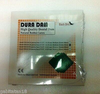 Dental Dura Dam High Quality Dental Rubber Dam Sheet Based Natural Latex 6x6
