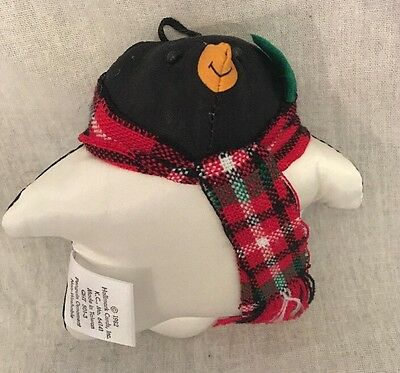 HALLMARK FAT PENGUIN CLOTH STUFFED CHRISTMAS ORNAMENT 1982