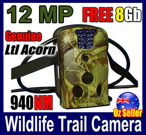 Ltl Acorn 12MP Camera Scouting Trail Hunting FREE 8GB SD Farm Security IR 940NM