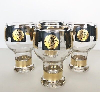Panama Pacific Exposition 1915 Set Of 4 Gilded Cups