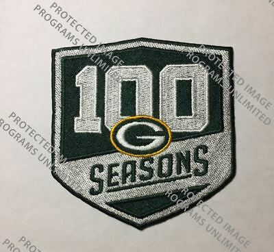 Green Bay Packers 100 Seasons Patch Football 100Th Season Ships Now   Limited Ed