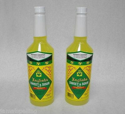 2x 32oz. Jonathan English Sweet Sour Mix Cocktail Margarita Free Ship