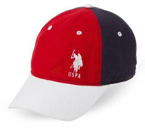 2e57b670 U.S. POLO ASSN. Front Embroidered Logo Baseball Cap (RED/WHITE)