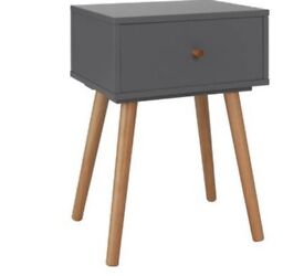 Bedside cabinet two tone grey
