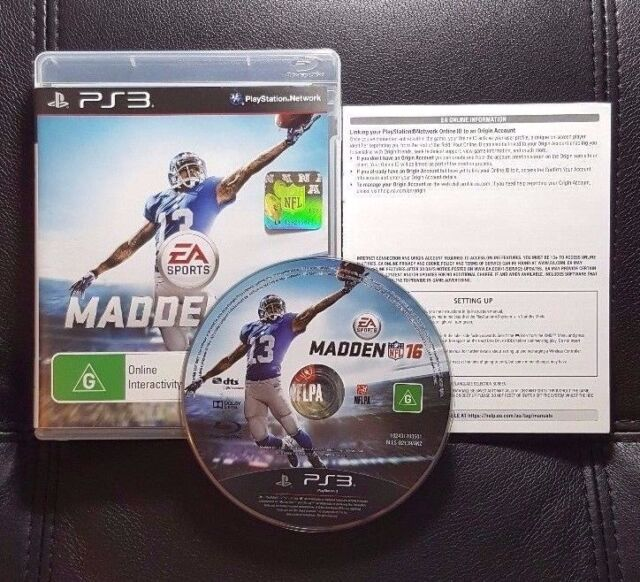 Madden NFL 16 (Sony PlayStation 3, 2015) PS3 Game - Very Good cond - Aus Release