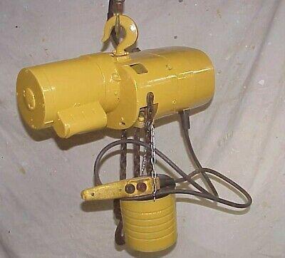 Budgit 309826 12 Ton 1000lb Electric Chain Hoist 115v 18 Ft Lift W Pendant