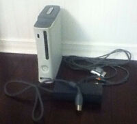 XBox 360 Console with power supply and video cables