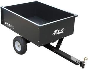 Steel Dump Cart Wagon Garden Yard Tractor Lawn Mower Trailer Attachment 10cu Ft - BRAND NEW - FREE SHIPPING