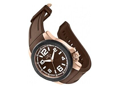 Invicta Mens Specialty 30705 Brown/Rose Gold Tone 48MM Case Swiss Movement Watch