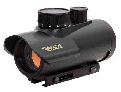 BSA Optics RD30 Red Dot Sight 30mm 5 MOA Matte 3/8 & 5/8 Picatinny Mount Black