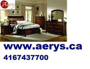 FURNITURE WAREHOUSE LOWEST PRICE WWW.AERYS.CA call 416-743-7700  bed only starts from $129 ,mattress starts from $49