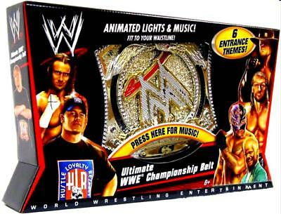 Used, WWE Wrestling Ultimate Championship Belt with Animated Lights & Music 2010 New for sale  Shipping to India