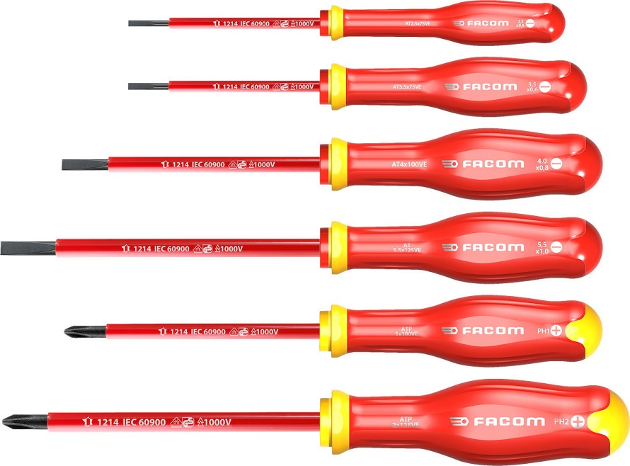 Facom Slotted Protwist Insulated Screwdriver