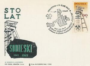 Poland postmark JAWORZNO - mining coal KWK SOBIESKI (analogous) - <span itemprop=availableAtOrFrom>Bystra Slaska, Polska</span> - Poland postmark JAWORZNO - mining coal KWK SOBIESKI (analogous) - Bystra Slaska, Polska