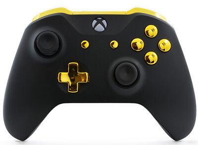 Black Gold Xbox One S   X Custom Un Modded Controller Unique Design