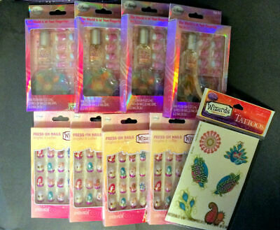 NEW Lot of  9 WIZARDS WAVERLY Nail Art Set  Press on Nails Tattoos PRICE FOR ALL](Batman Tattoos For Females)