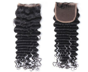 Deep Wave Virgin Brazilian Closure #NATURAL (8A) FOR SALE!!!