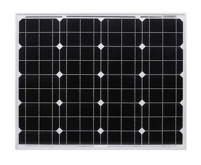 panneau solaire photovoltaïque 50 watts 12v monocristallin 50w