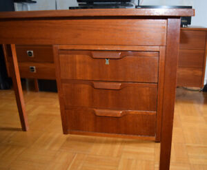 MCM Teak Office/Desk Table Made in Denmark