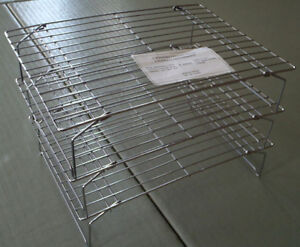 "Set of 3 Stackable Metal Cooling Racks 10""x14"""