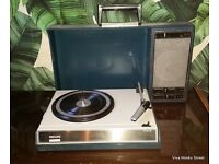 Fully Serviced /Restored Vintage Fantastic Philips 22GF Portable Record player Full Working Order