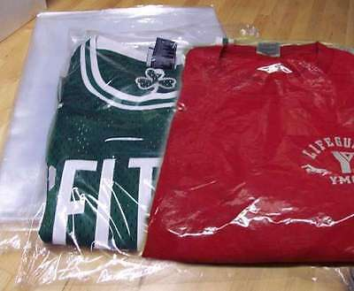 9x12-12x15-12x16 Poly T Shirt Clear Plastic Bags 2-3 Flap25-50-100-200-300-500