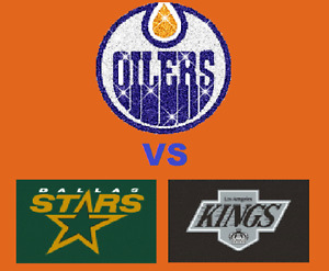 Oilers VS Stars, Kings!! Front Row on the Glass!!
