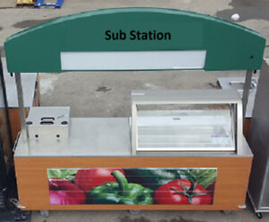 REFRIGERATED PORTABLE COMMERCIAL FOOD CART/WHEELS