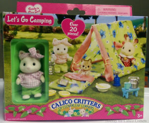 NEW:Calico Critters School Lunch,School Music & Camping Set & Ho