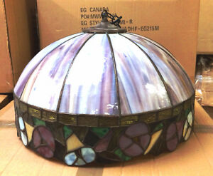 ABAT-JOUR DU VITRAIL TIFFANY - STAINED GLASS LAMPSHADE dakotamon