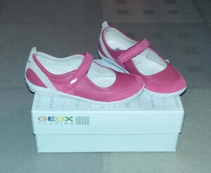 Red Geox girl's shoes size 13 (100% leather).