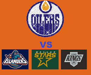 Oilers VS Islanders, Stars, Kings!! Front Row on the Glass!!
