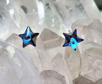 5mm Star Stud Earrings (Crystal Stud Earrings 5mm Star, Swarovski Rhinestones, 1 Pair, 5 Colors )