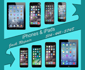 Repair iphone/iPad screen & battery / les écrans & batterie