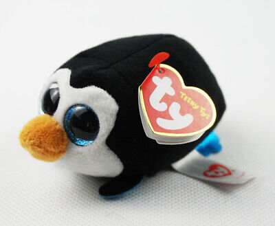 "4"" TY Teeny Tys With Tag Pocket the Penguin New Glitter Eyes Plush Stuffed Toys"