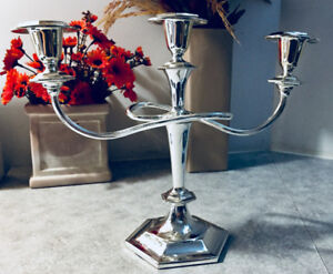BEAUTIFUL - 3 ARM - SILVER PLATED – CANDELABRA