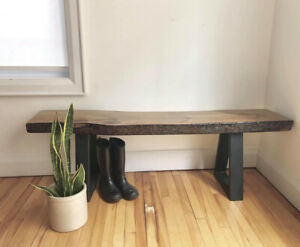Live edge bench / entryway seating / plant stand / mudroom piece