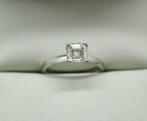 183ce25ef47b9a Fabulous Platinum And 0.85 Carat Asscher Cut Diamond Solitaire Ring Size  G.1/2